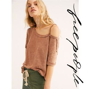Free People We The Free Alex Cold Shoulder Tee